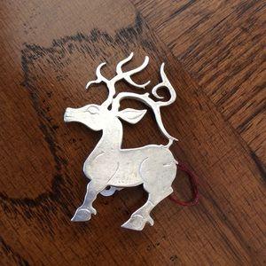Vintage Jewelry - Sterling Silver Reindeer Magical Antlers Pin